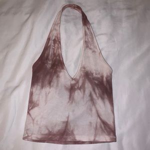 Brandy Melville Cropped Tie Dye Halter Top